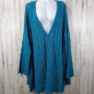 Woman Within Womens Cardigan Sweater 34/36 4X